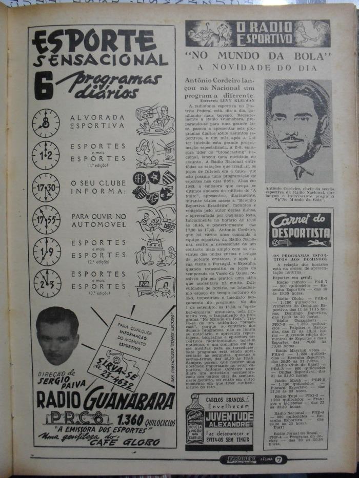 o radio esportivo- estreia de no mundo da bola